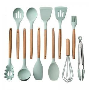 KCK6886 - Silicone + beech slotted spoon 32cm