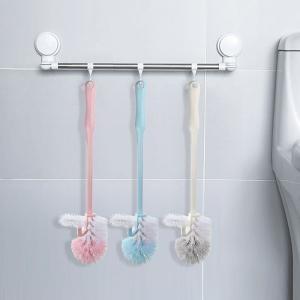 Cọ Toalet bằng nhựa đầu tròn thêm móc Model KCK6628-SA7814-(410*103)mm